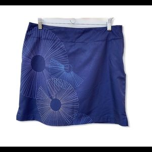 Lija Golf Tennis Skort Skirt Blue Activewear NWT